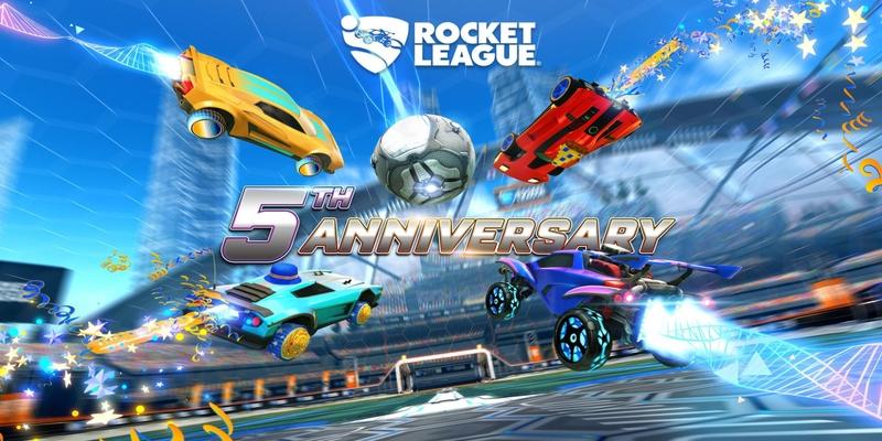 La celebrazione del quinto anniversario della Rocket League