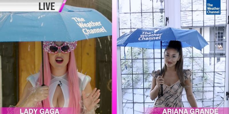 The Weather Channel sta promuovendo il nuovo singolo di Lady Gaga ¨Rain On Me¨